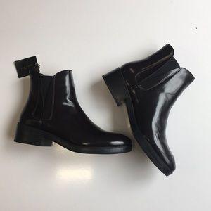 Zara ankle boots dark brown